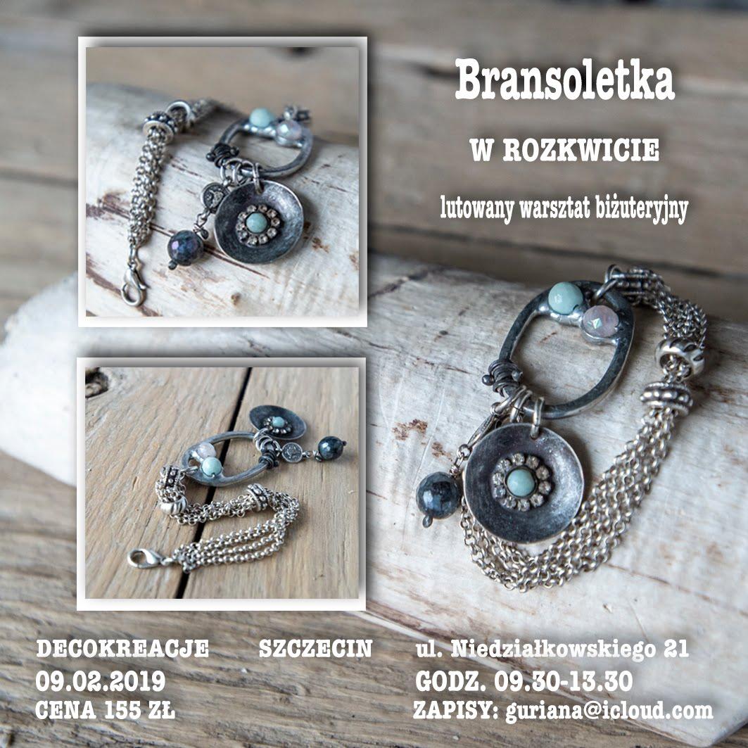 """DecoKreacje Szczecin Bransoletka """"W rozkwicie"""""""