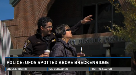 Police Investigate UFO's Above Denver Colorado, UFO Sightings