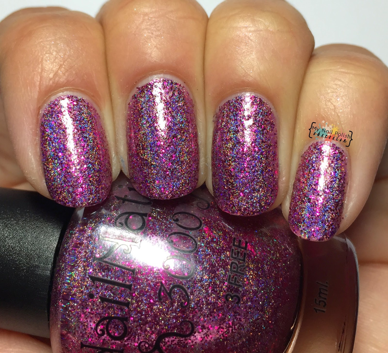 Nail Nation 3000 Fuchsia Holo Gasm