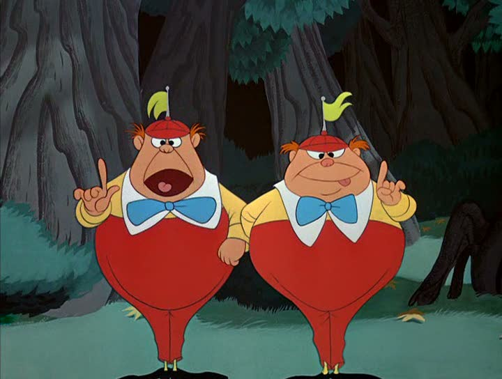 Tweedle dum dee Alice in Wonderland 1951 animatedfilmreviews.blogspot.com