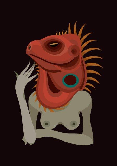 Gloria Pizzilli ilustrações mulheres peladas sensuais minimalistas surreais