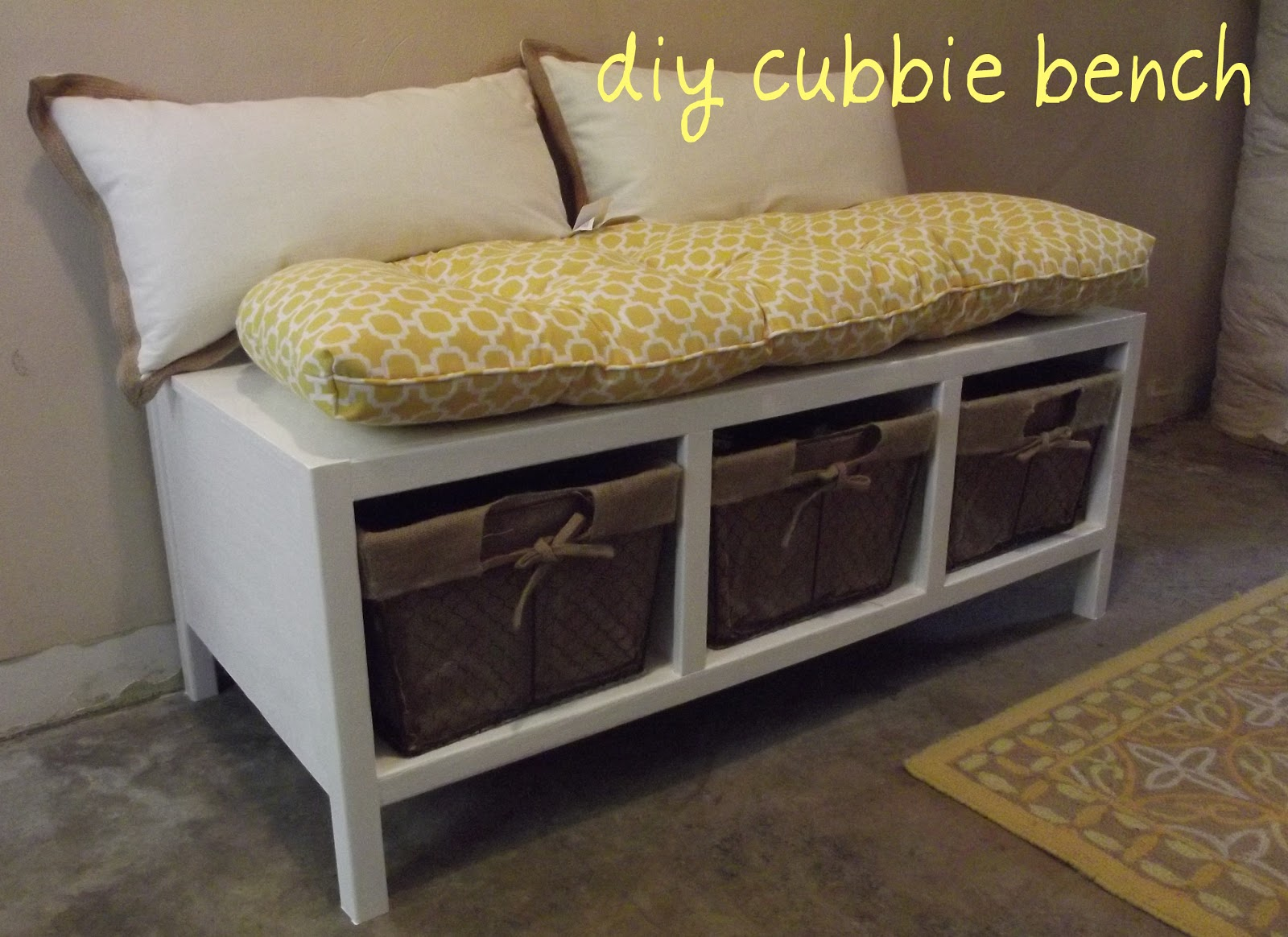 See Steph Do Stuff Diy Cubbie Bench