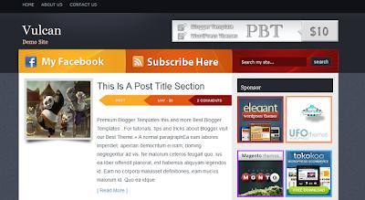 Vulcan – Modern Magazine Blogger Template