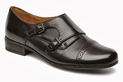 black women's monk strap shoes in masculine style