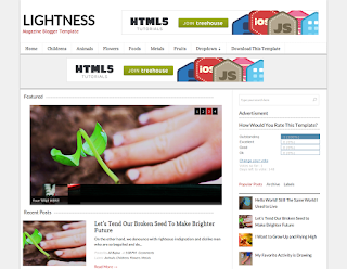 Lightness Blogger Template