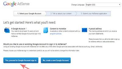 Langkah Pertama Melakukan Pendaftaran AdSense
