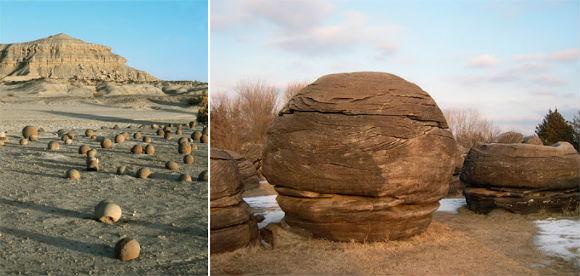 غرائب شاهدت صخور كروية تثير الدهشة
