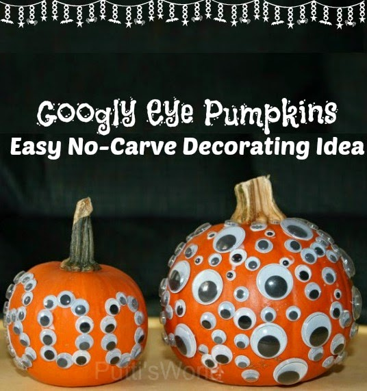 this knifefree pumpkin decorating method is totally kid friendly even your littlest goblins can make one of these frightful