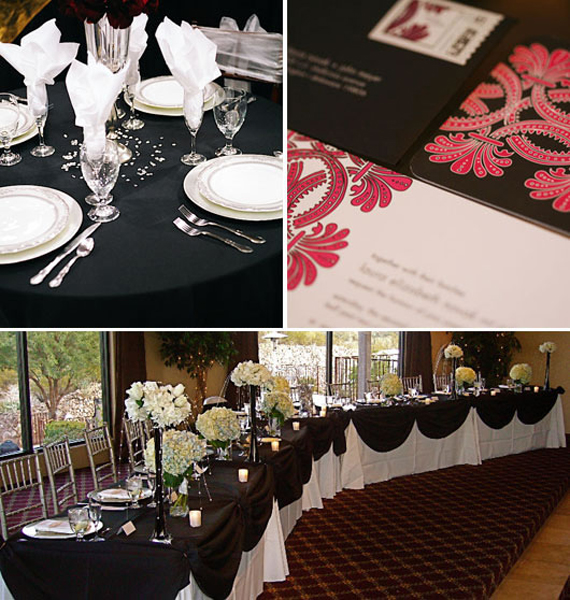 Wedding Inspiration Center 2012 Elegant Black And White Wedding Decoration Ideas