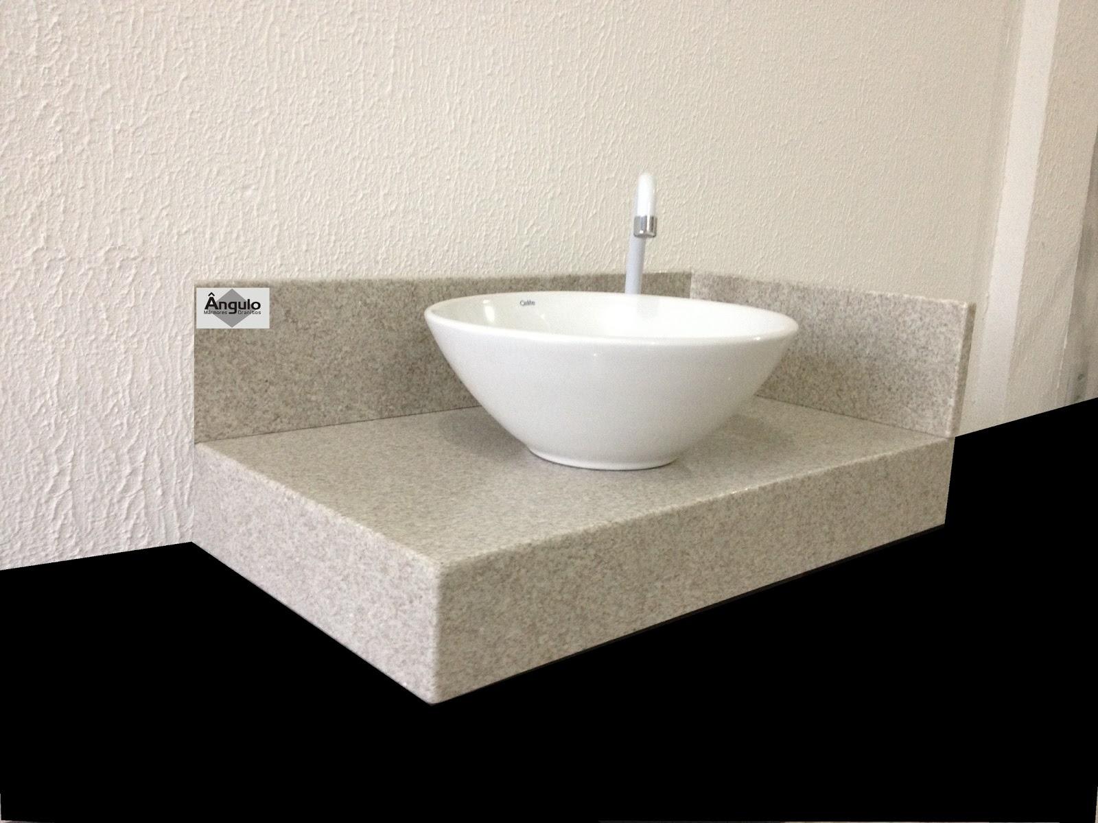 Ângulo Mármores e Granitos Bancada de Banheiro  Granito Branco Siena -> Pia De Banheiro Aqualux