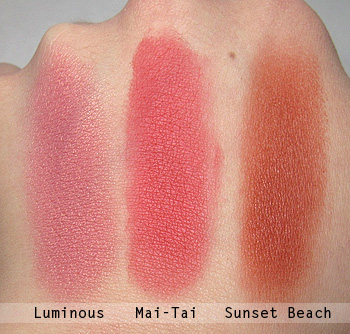 milani mineral blush swatches