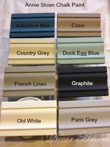 Decor Amore My Annie Sloan Chalk Paint Color Boards