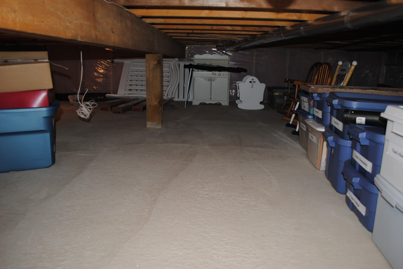 Crawl Space Finishing : Tobie s thoughts resolutions early finished crawl