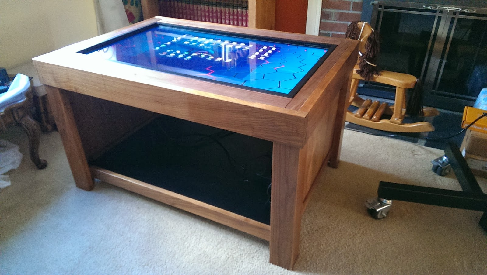 MultiTouch Gaming Coffee Table and Magnetic Interactive Objects