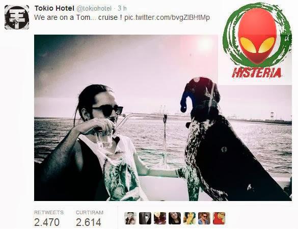 [04.02.14] Tokio Hotel > Tom posta foto no Twitter l  Bill Posta foto no Facebook Tom