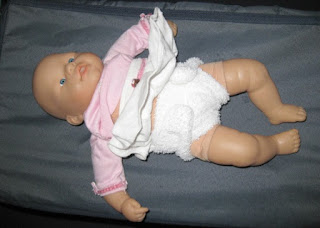 Finished recycled dolls nappy