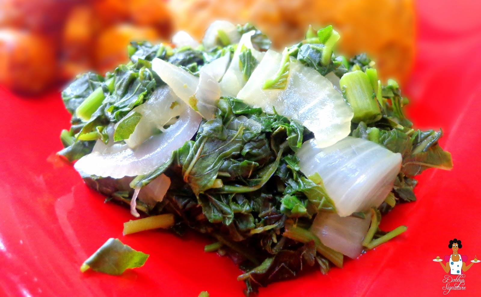 Dobbys signature nigerian food blog i nigerian food recipes i how to make steamed leafy green vegetables forumfinder Choice Image