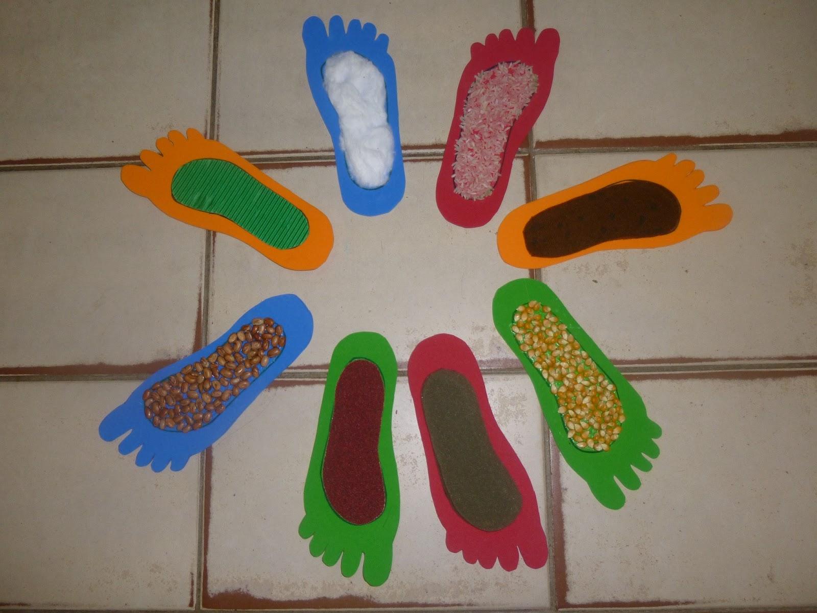 #BF6008 Projetos na Educação Infantil: PÉS DE TEXTURAS 1600x1200 px Projeto Cozinha Na Educação Infantil_4295 Imagens