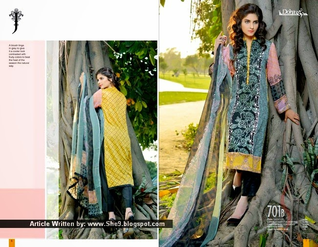 Jubilee Lawn 2015 | Doha Kurti Collection