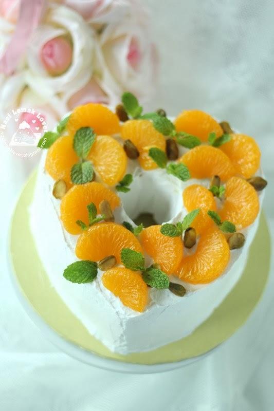 Nasi Lemak Lover Mandarin Oranges Decorated Chiffon Cake