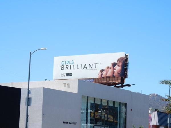Girls Brilliant Emmy 2015 billboard