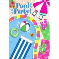 pool party garden flag