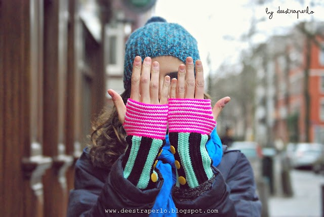 free crochet pattern back loop only fingerless gloves