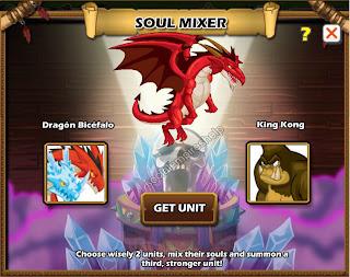 imagen de la combinacion para conseguir el dragon infernal