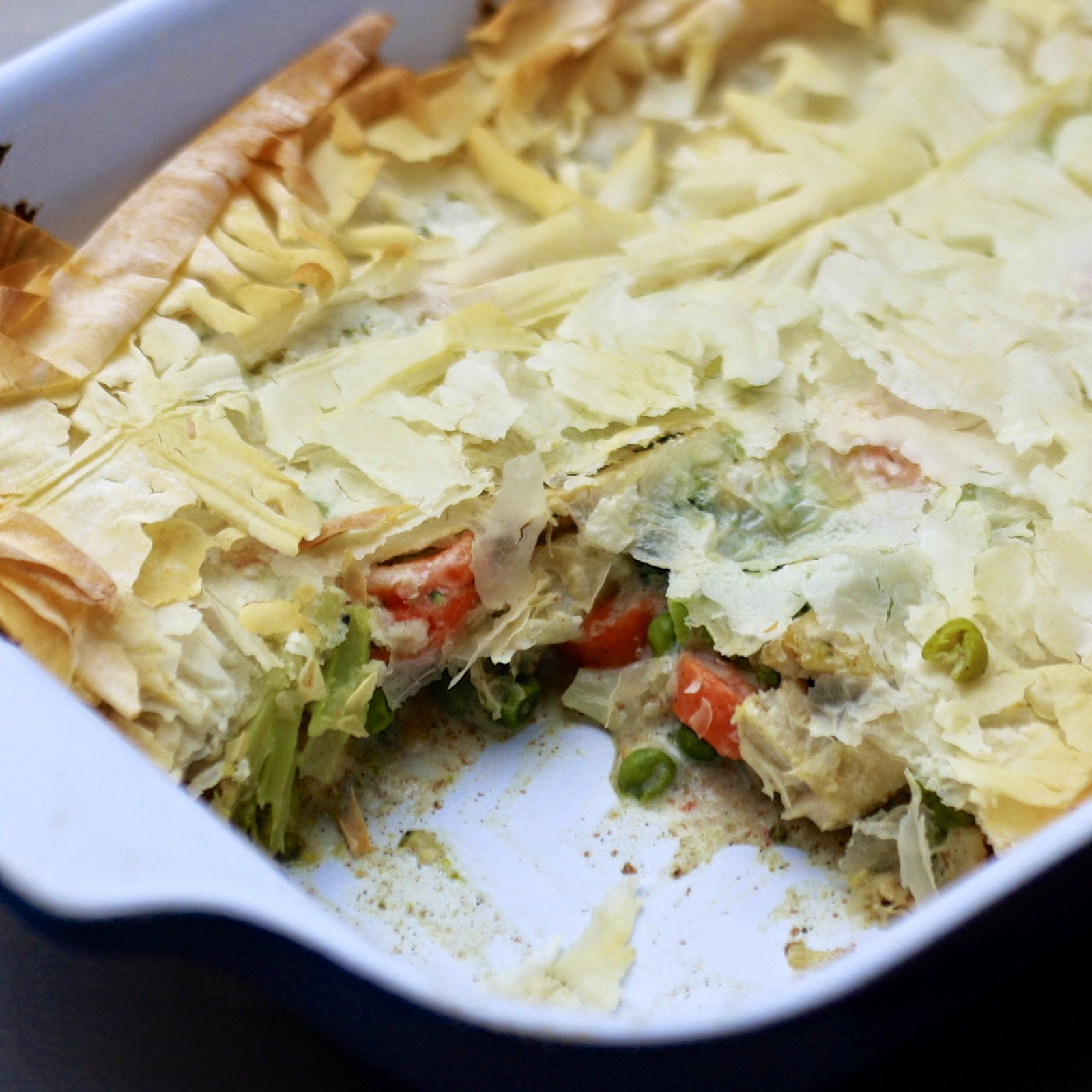Lighter Chicken Pot Pie | The Sweets Life