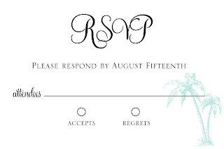 DIY Printable 4x6 Vintage Beach Wedding RSVP card