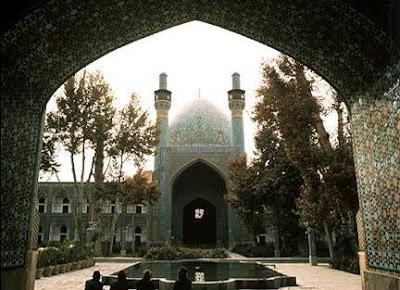 Patio de la mezquita de Isfahan