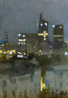 La Defense by Night by Liza Hirst