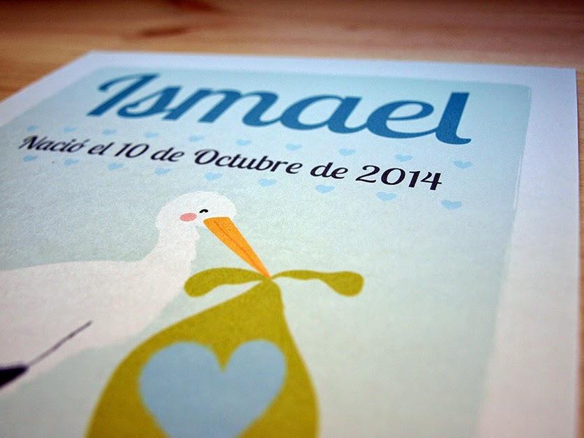 Lámina de nacimiento para Ismael