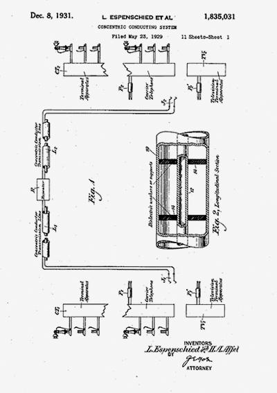 historia del cable coaxial