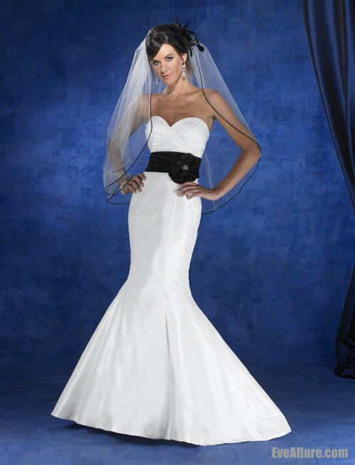 Black And White Mermaid Wedding Gowns : She fashion club black and white mermaid wedding dresses