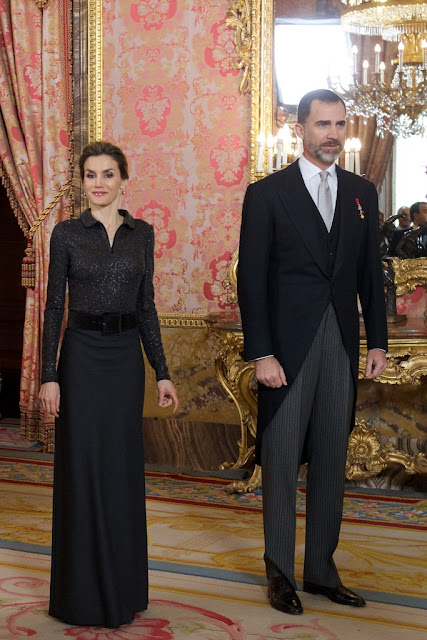 Queen Letizia of Spain attend the annual Foreign Ambassadors