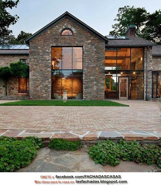 Fachadas de piedras casas de piedras fachadas de casas y - Piedra rustica para fachadas ...