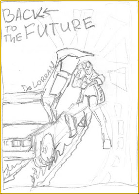 Back to the Future sketch poster
