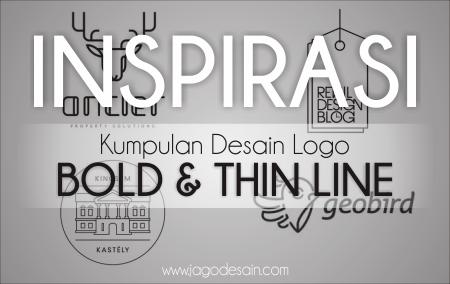 Kumpulan Desain Logo Bold & Thin line