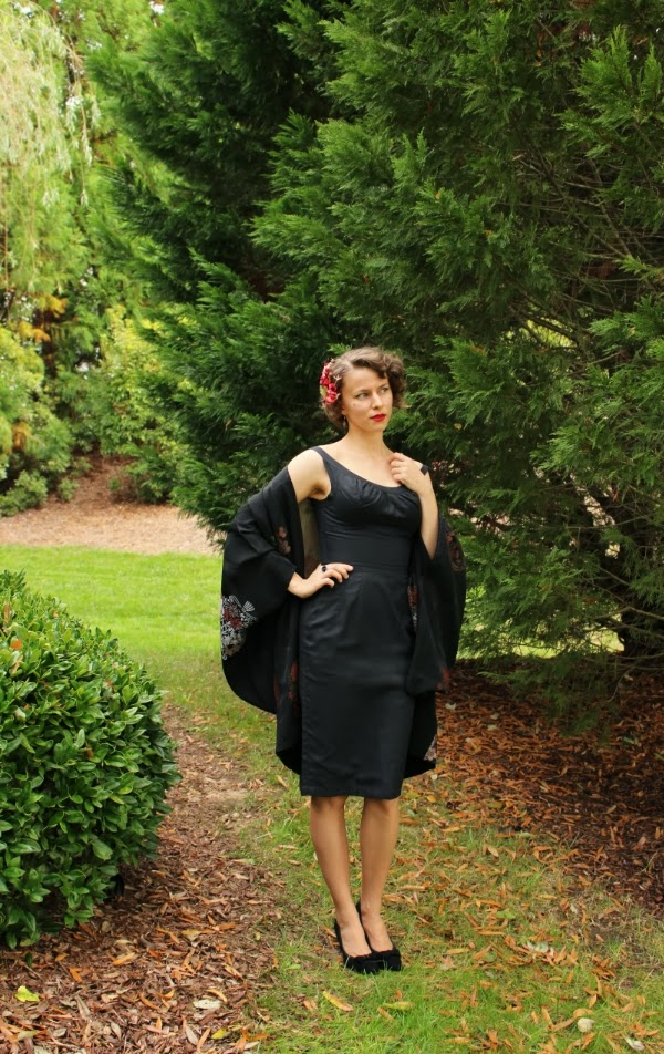 My Vintage Little Black Dress #1950s #fashion #50s #dress #LBD