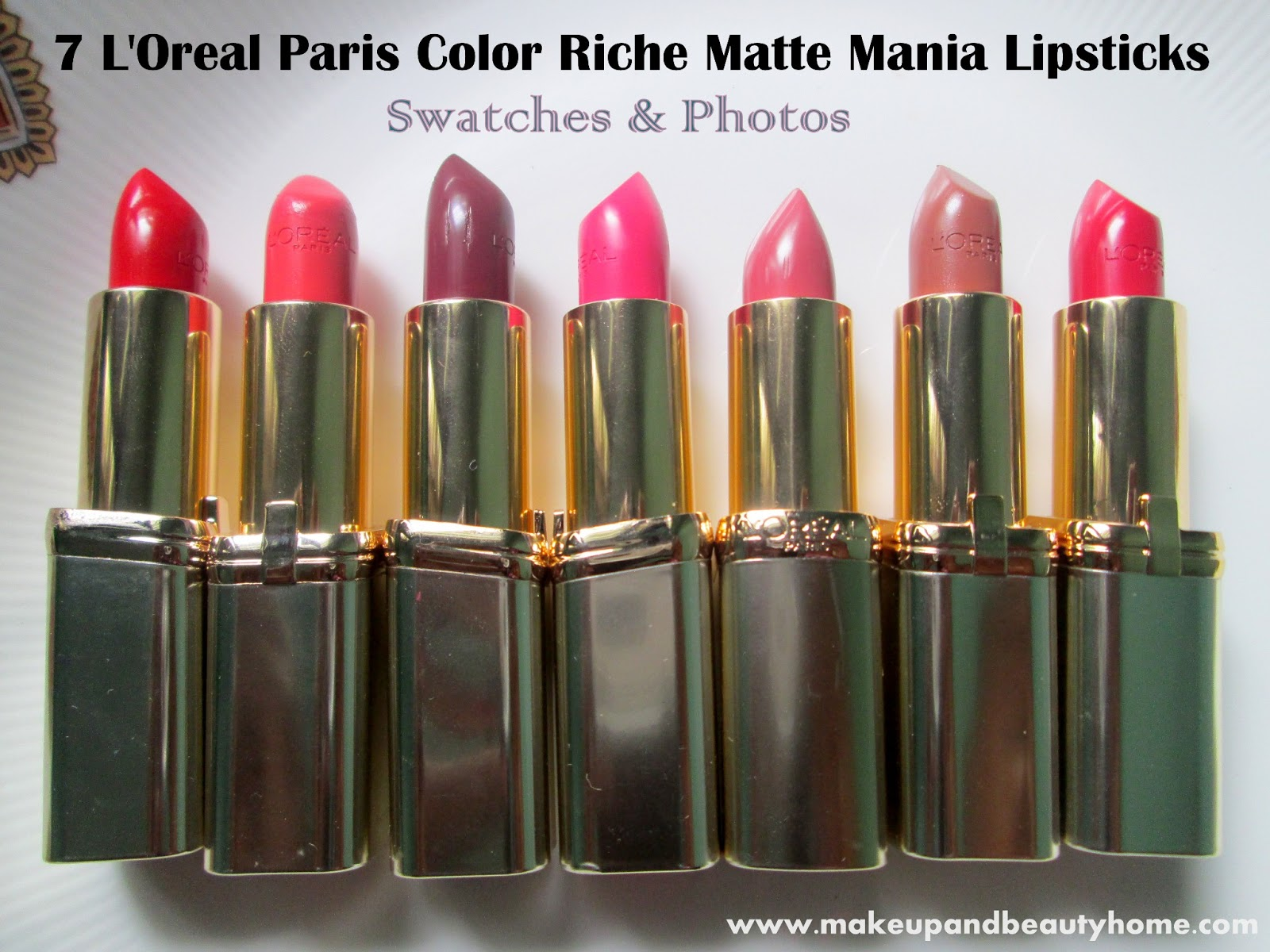 7 L'Oreal Paris Color Riche Matte Mania Lipsticks Swatches and ...