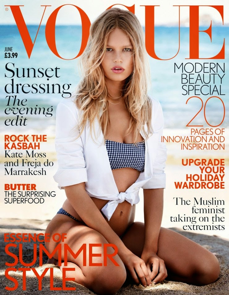 Model @ Anna Ewers by Patrick Demarchelier for Vogue UK, June 2015