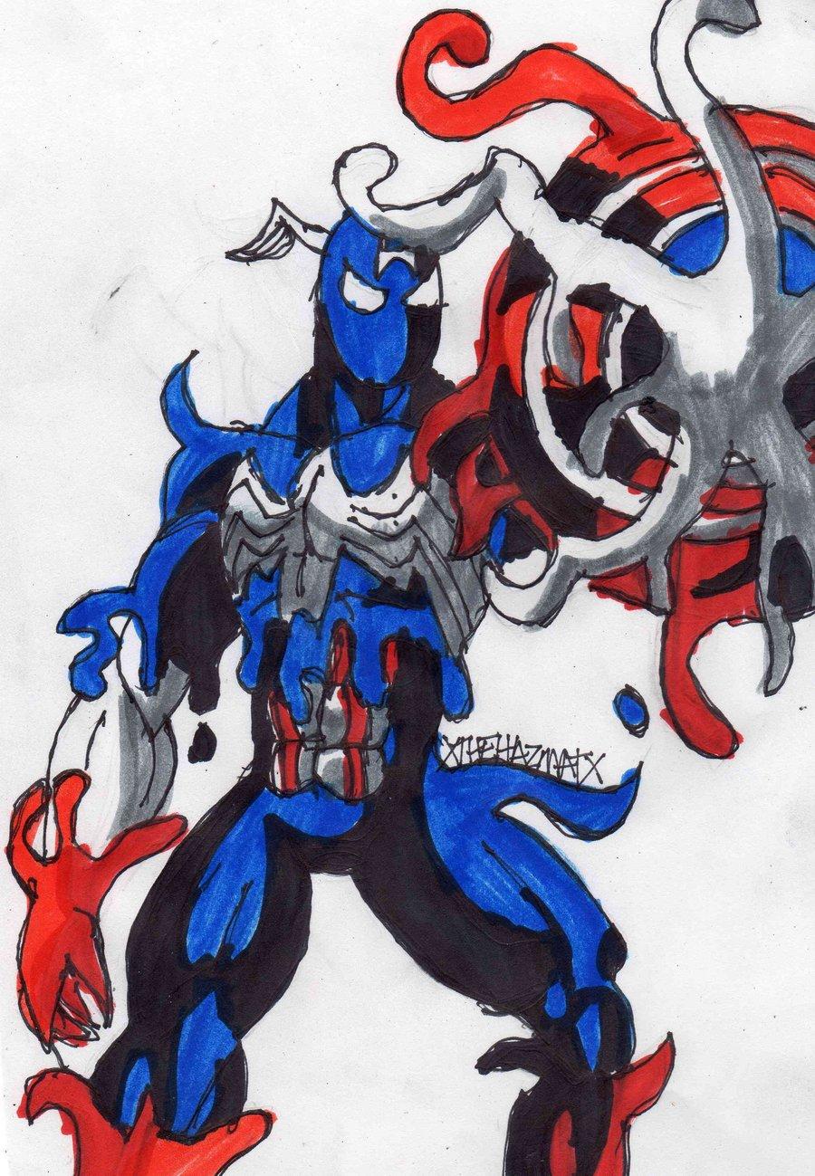 Symbiote Captain America por ChahlesXavier