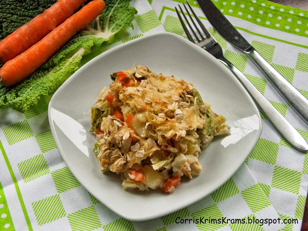 Auflauf, Kochen, Rezept, vegetarisch, Gemüse, Wirsing