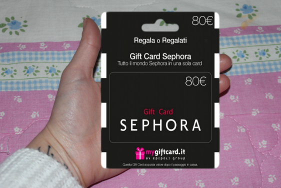 Loveelle addict giveaway 1 carta regalo sephora da for Carta da regalo