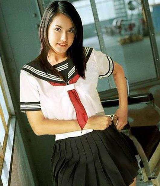 maria ozawa sexy schoolgirl cosplay
