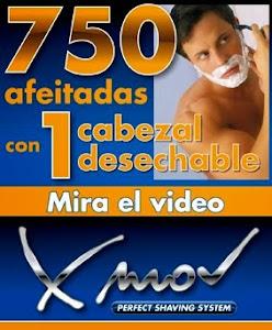 750 afeitadas con un cabezal desechable