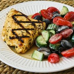 ... Grilled Fish with Garlic, Basil, and Lemon (Halibut, Tilapia, or Mahi