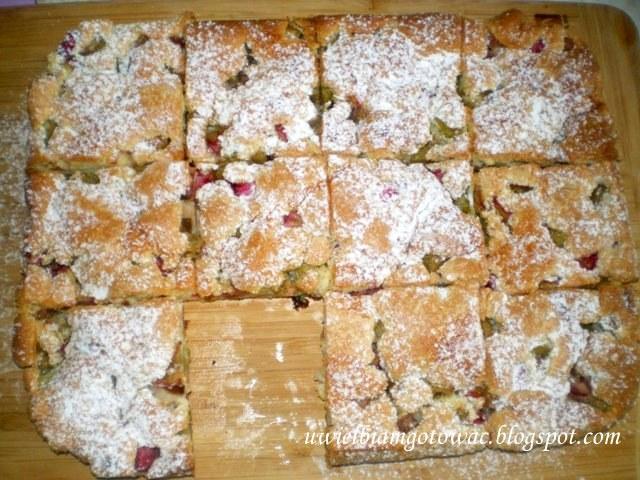 Szwedzkie ciasto z rabarbarem Rabarberkaka