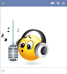Singing emoticon for Facebook